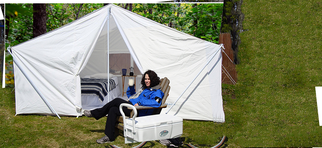 Large Canvas C&ing Tent : easy ups tents - memphite.com