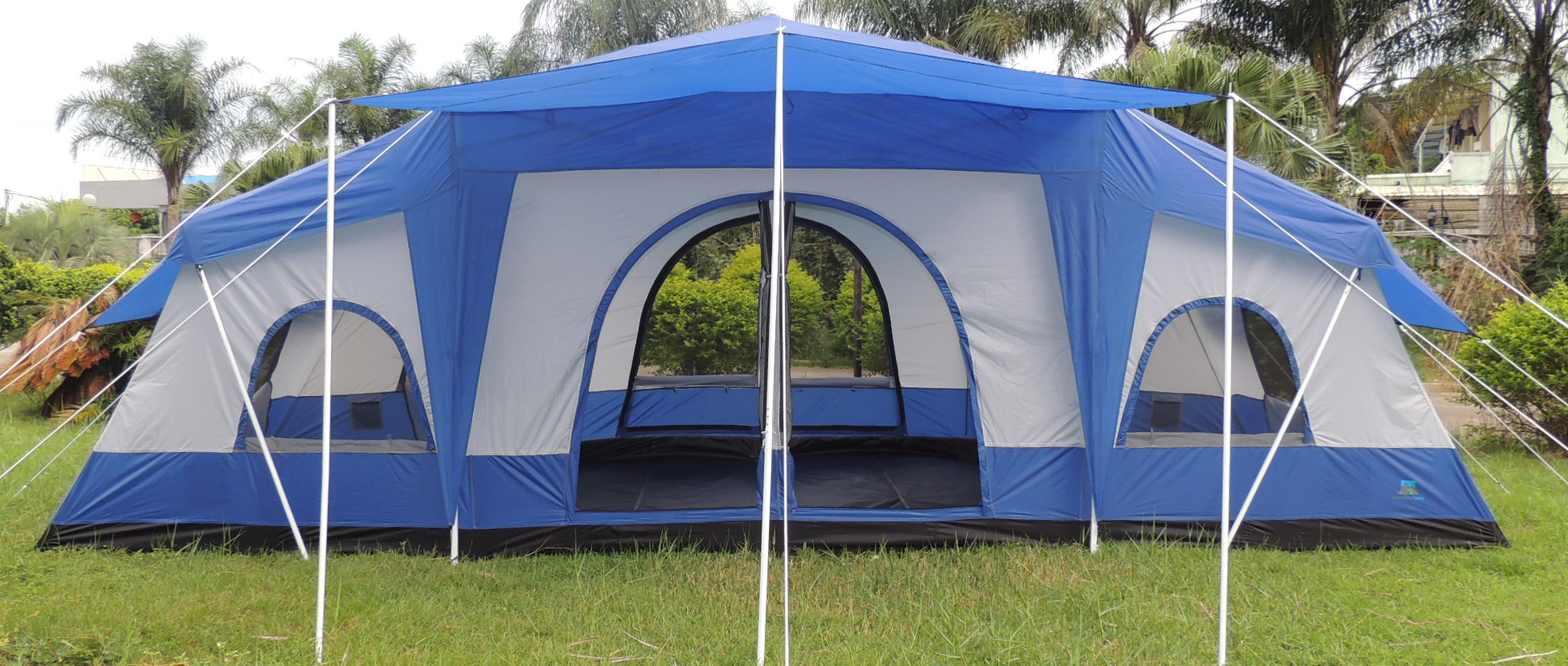 Cabin-Tent-Deluxe-Four-Room-Front-View ... : family sized tents - memphite.com