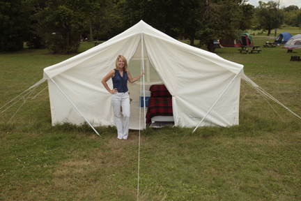 Canvas Tent 646 - Shown With Optional Rain Fly ... & White Canvas Wall Tent 10u0027x14u0027 | Canvas Wall Tents|Durable Wall Tent