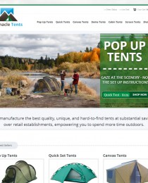 Screen Shot of The Redesigned CampTents.com