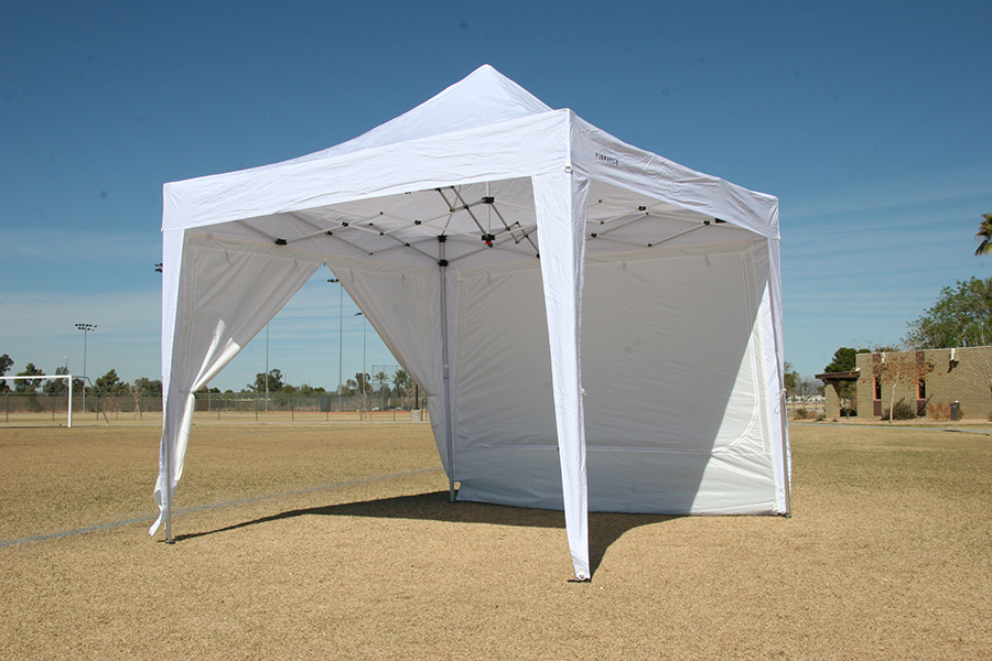 ... Canopy Tent 685 - Shown With One Wall Down Three Walls Rolled Up ... & Canopy Tent With 4 Free Sidewalls | Commercial Grade | Heavy Duty