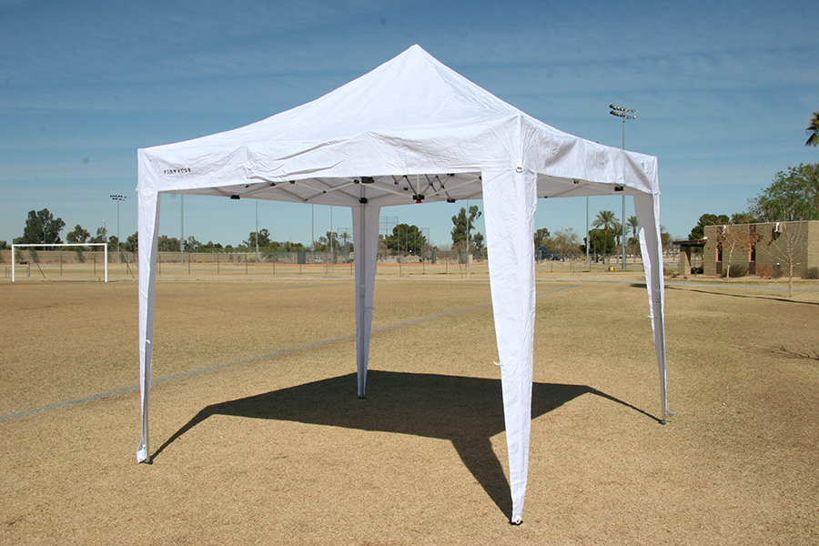Canopy Tent 685 - Shown Without Sidewalls & Canopy Tent With 4 Free Sidewalls | Commercial Grade | Heavy Duty