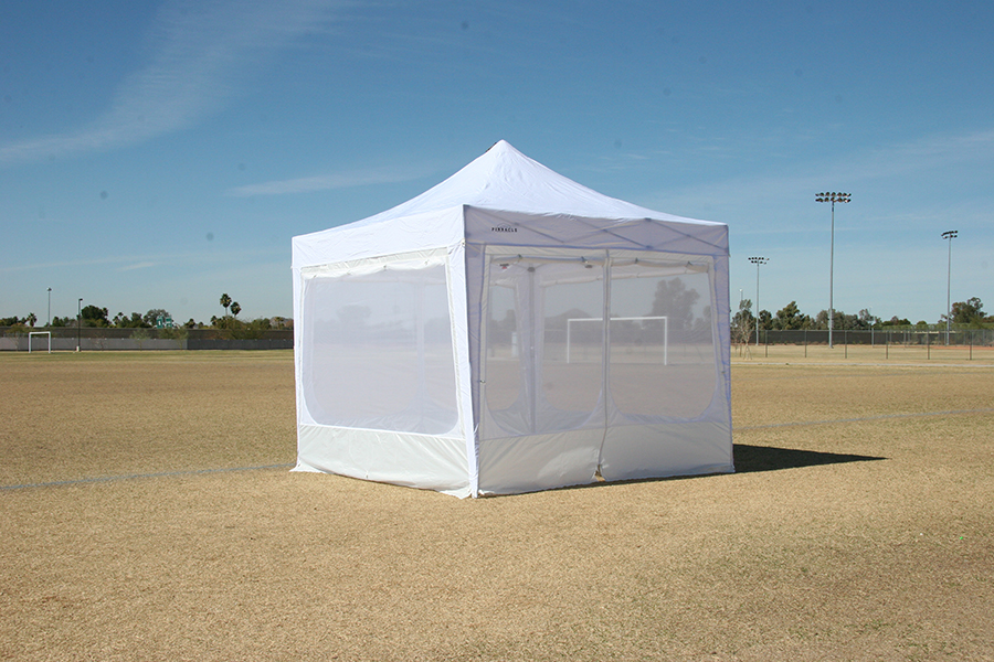 ... Canopy Tent - Shown With Free Screen Walls (Included) & Canopy Tent With 4 Free Sidewalls | Commercial Grade | Heavy Duty