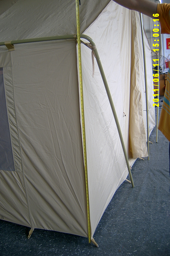 ... Canvas Tent 646 - Steel Eave Poles & White Canvas Wall Tent 10u0027x14u0027 | Canvas Wall Tents|Durable Wall Tent