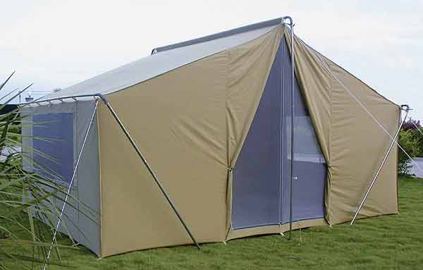 Canvas tents 9 39 x12 39 canvas camping tent all weather for Tent a house