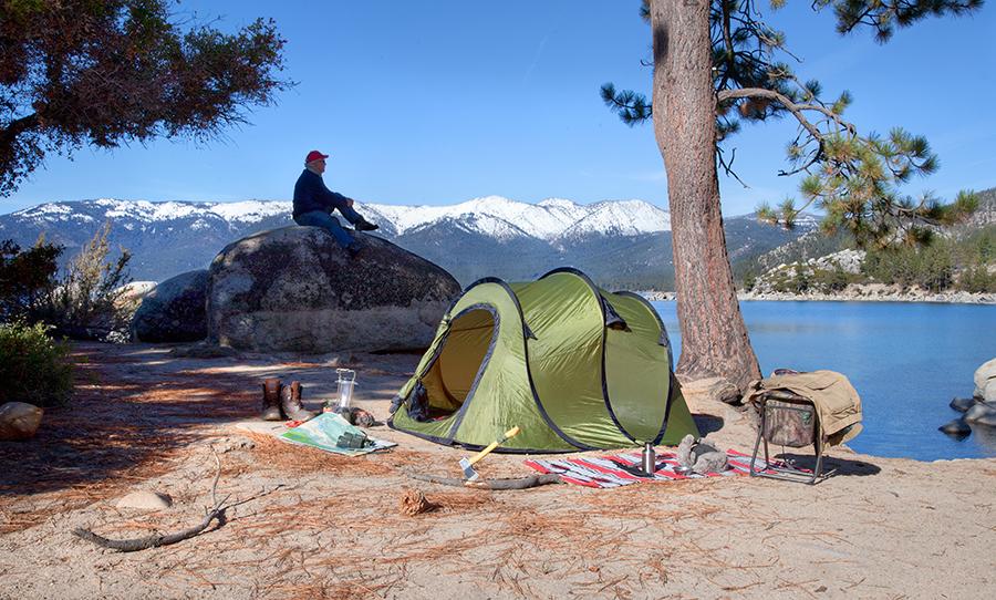 4 Person Pop Up Camping Tent Instant Setup Lifetime