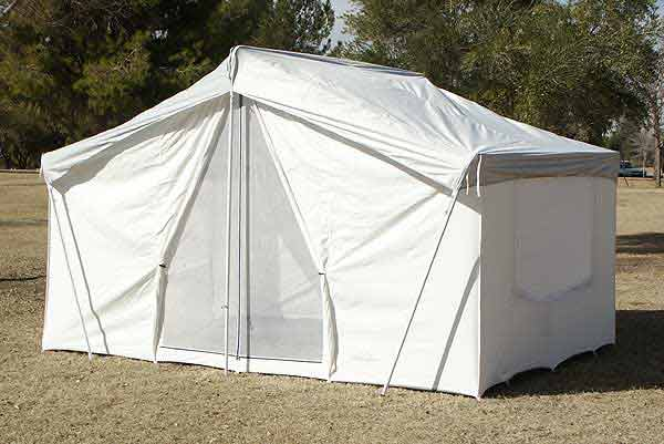 optional polyester rain fly for pinnacle canvas tent 646
