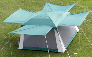 Screen Tent 682 - Screen Room With Rain Fly and Extended Awnings