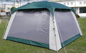 Screen Tent 682 - With Rain Fly On And Awnings Rolled Up