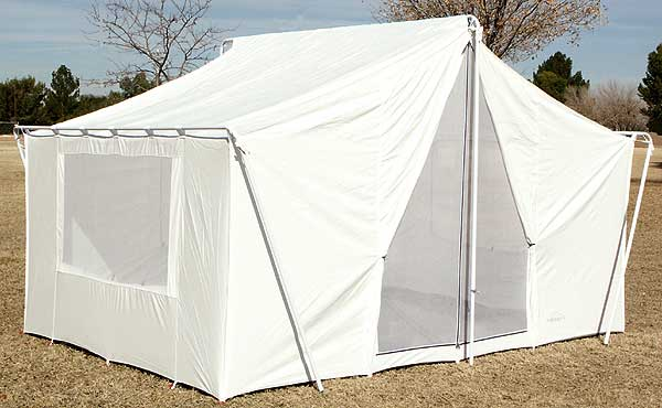 Canvas Wall Tent 646 - Canvas Tents & White Canvas Wall Tent 10u0027x14u0027 | Canvas Wall Tents|Durable Wall Tent