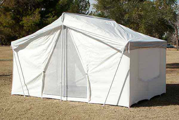 White canvas wall tent 10 39 x14 39 canvas wall tents durable for Canvas tent plans