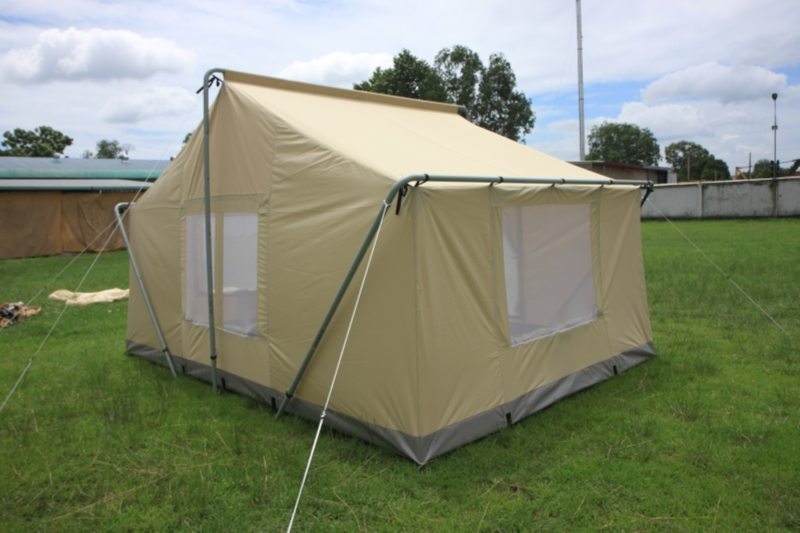 Canvas tent 9 39 x12 39 canvas camping tent durable canvas for How to build a canvas tent frame