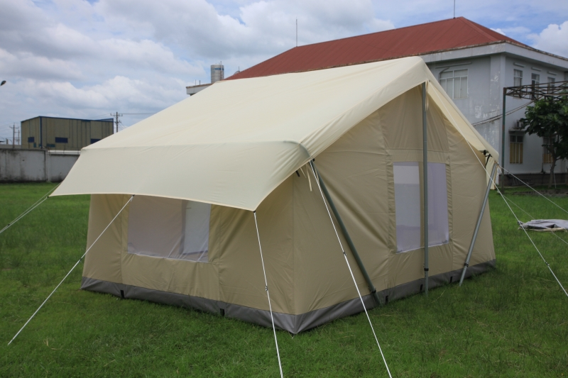 Canvas tent 9 39 x12 39 canvas camping tent durable canvas for Tent a house